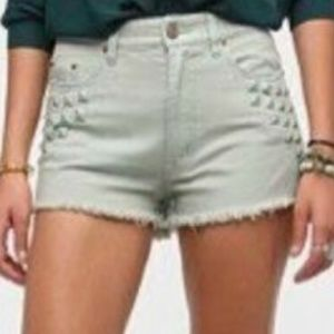 Urban Outfitters BDG High Rise Studded Jean Shorts